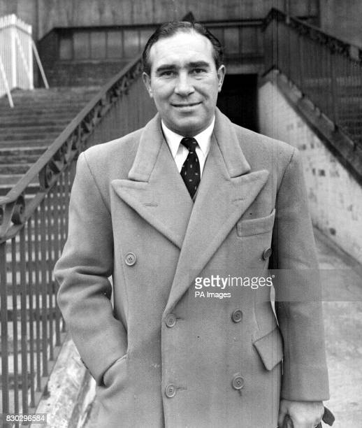 Alf Ramsey manager at Ipswich Town where he has changes the fortunes of the East Anglian club by taking them from the Third Division to the First
