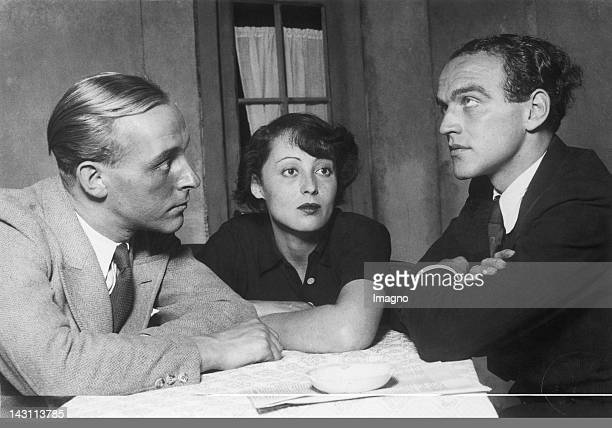 Alf v Sivers Luise Rainer and Herbert Berghof in Rausch by August Strindberg Kammerspiele Vienna September 29th 1934