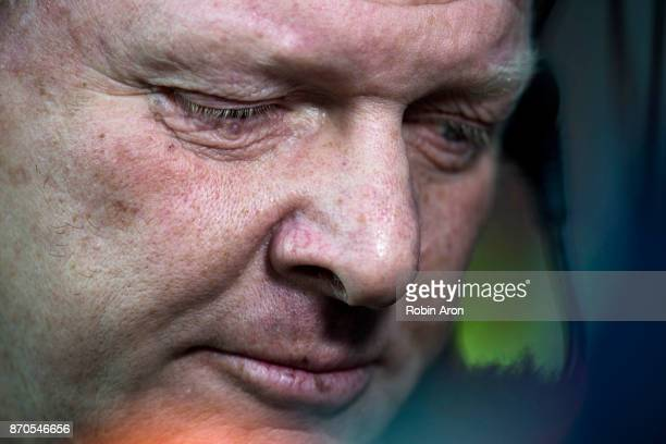 Alf Westerberg head coach of IFK Goteborg before the Allsvenskan match between IFK Goteborg and GIF Sundvall at Gamla Ullevi on November 5 2017 in...
