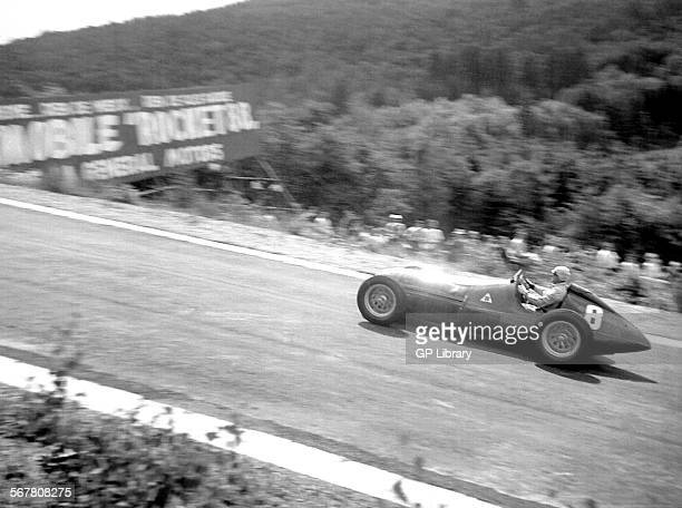 Alfa Romeo 158 Farina after Eau Rouge Belgian GP Spa 1950