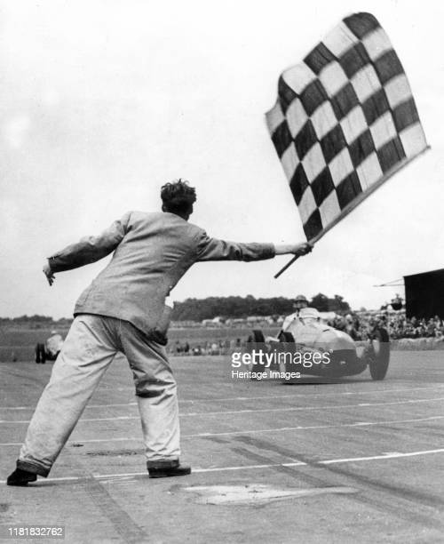 Alfa Romeo 158, Nino Farina winning International Trophy race at Silverstone in 1950. Creator: Unknown.