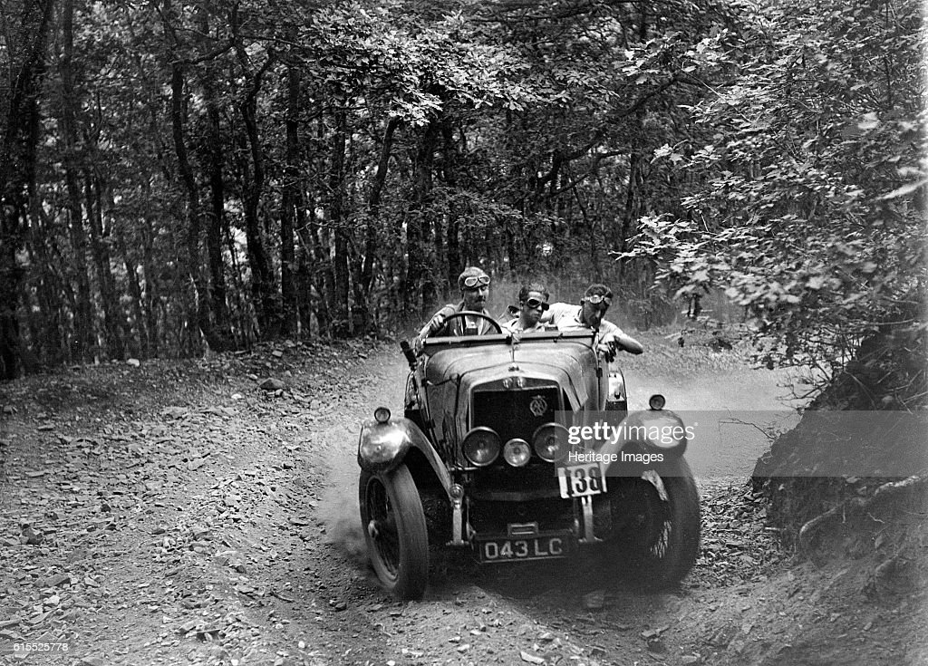 Alfa Romeo 22/90 of M Chambers, B&HMC Brighton-Beer Trial, Fingle Bridge Hill, Devon, 1934 : News Photo