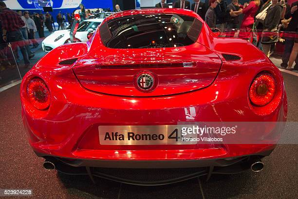 Alfa Romeo 4C at Frankfurt Auto Show 2013 in Frankfurt Germany 10 September 2013 The 4C weighs 895kg is 3990mm long and delivers 240hp from its...