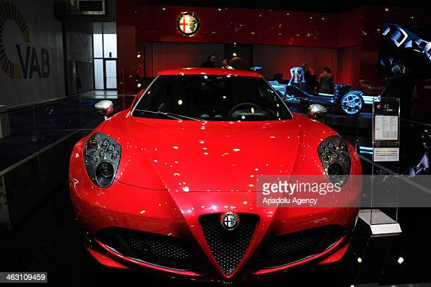Alfa Romeo 4C is presented during 92nd Brussels Motor Show , from 16 to 26 January 2014, at Brussels Expo at the Heysel in Brussels, Belgium, January...
