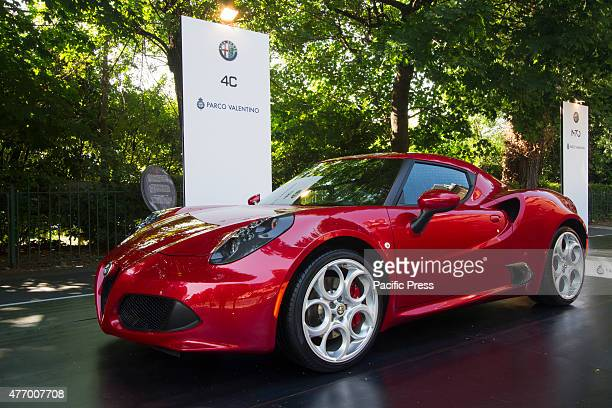 Alfa Romeo 4C Parco Valentino car show hosted 93 cars by many automobile manufacturers and car designers inside Valentino Park