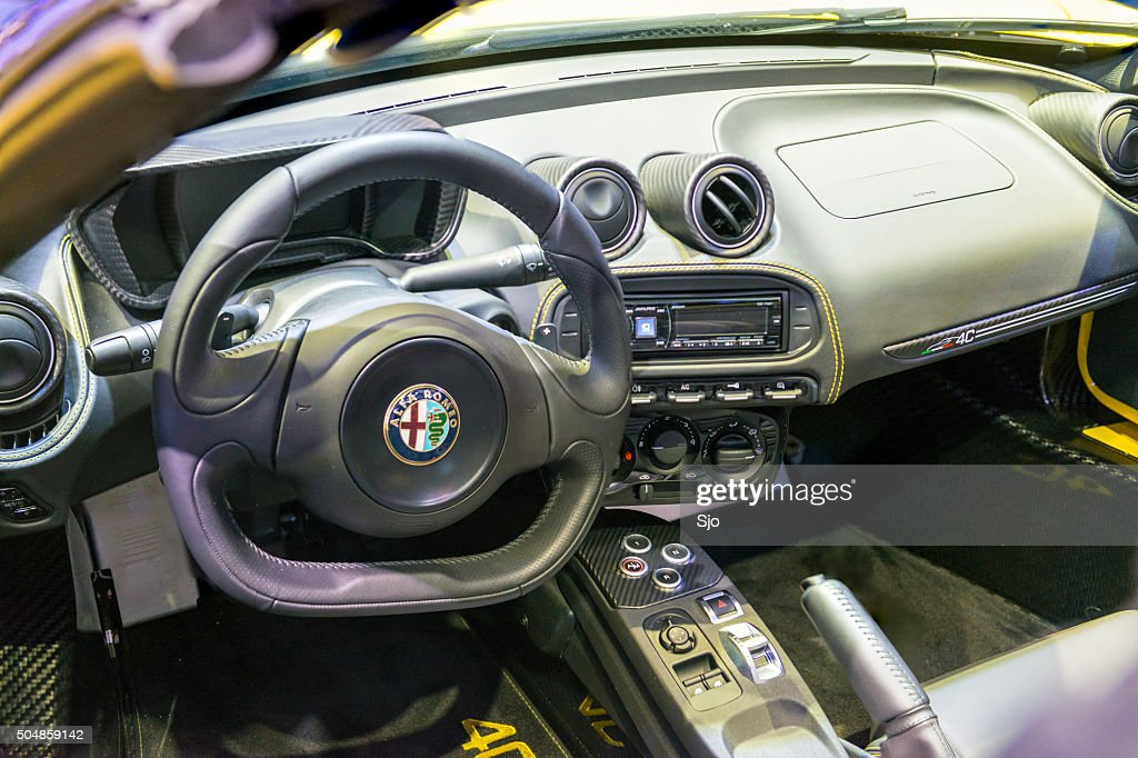 Alfa Romeo 4C Spider Interior : Stock Photo