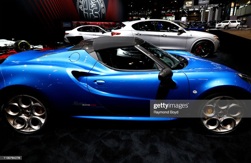 Alfa Romeo 4c Spider Italia Is On Display At The 111th Annual Chicago Foto Jornalistica Getty Images