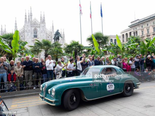 Alfa Romeo 6C 2500 SS coupe touring RS during 1000 Miles Historic Road Race on May 19 2018 in Milan Italy