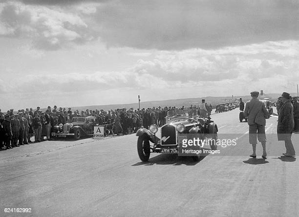 Alfa Romeo 6C of J Street competing in the RSAC Scottish Rally 1934 Artist Bill BrunellAlfa Romeo 6C1750 GS 1934 1754 cc Vehicle Reg No AYH701 Event...