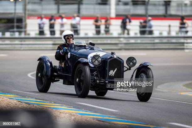 Alfa Romeo 8C 2300 Monza 1932 competes during the Day Practice at Le Mans Classic 2018 on July 6 2018 in Le Mans France