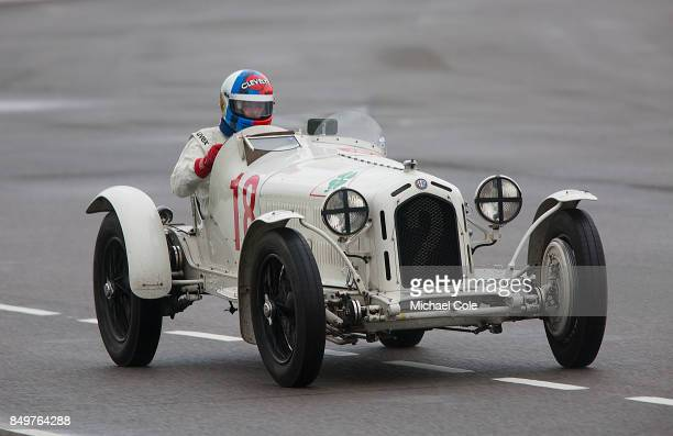 Alfa Romeo 8C 2300 Monza driven by entrant Rupert Clevely in the Brooklands Trophy at Goodwood on September 8th 2017 in Chichester England