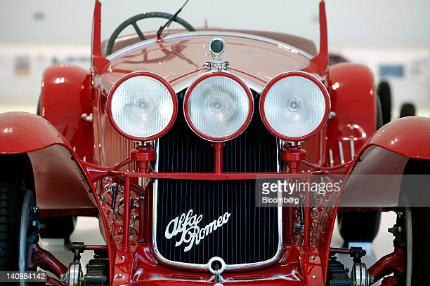 Alfa Romeo 8C 2300 sits on display inside the Enzo Ferrari Home Museum in Modena Italy on Friday March 9 2012 Ferrari SpA aims to beat 2011 operating...