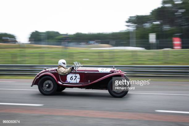 Alfa Romeo 8C 2300 Zagato 1932 competes during the Day Practice at Le Mans Classic 2018 on July 6 2018 in Le Mans France
