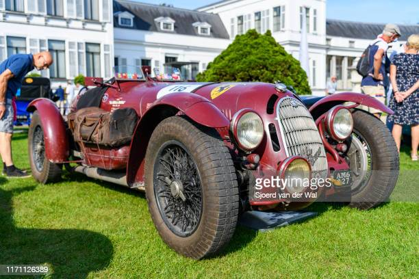 Alfa Romeo 8C 2900 'Botticella' 1936 Italian race car on display at the 2019 Concours d'Elegance at palace Soestdijk on August 25 2019 in Baarn...