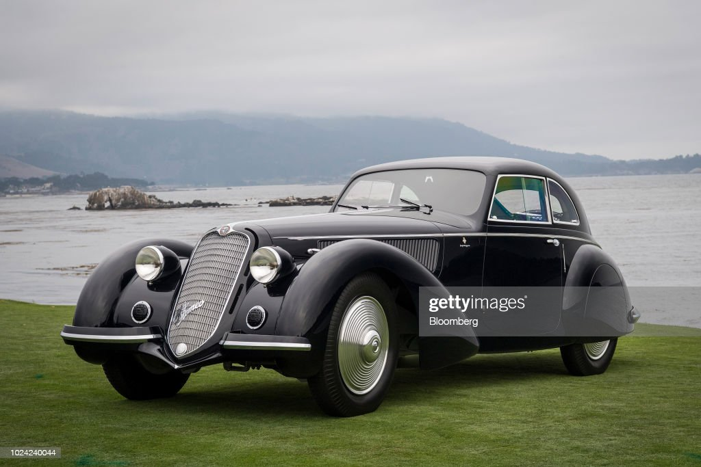 Inside The Pebble Beach Concours d'Elegance Classic Car Show And Auction : News Photo