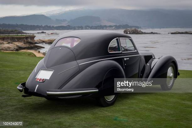 Alfa Romeo 8C 2900B Touring Berlinetta owned by David and Ginny Sydorick, winner of Best of Show, sits on the 18th fairway for a photograph during...
