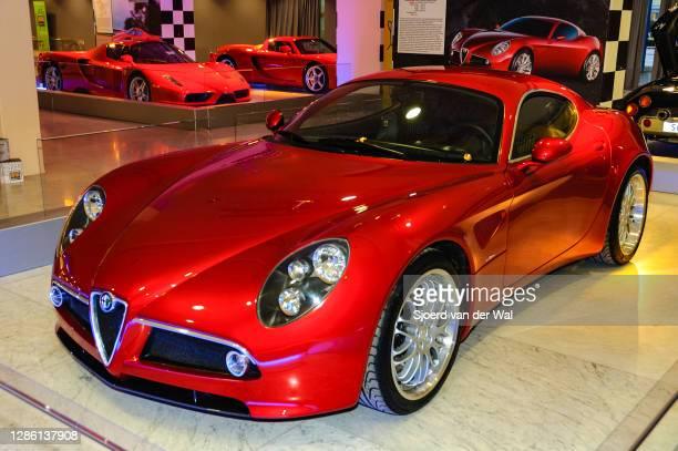Alfa Romeo 8C Competizione on display at Amsterdam motor show AutoRAI on February 9, 2005 in Amsterdam, The Netherlands.