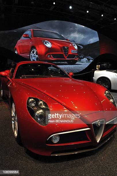 Alfa Romeo 8c in Paris France on October 02nd 2008