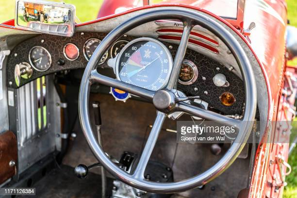 Alfa Romeo 8C Italian race car interior on display at the 2019 Concours d'Elegance at palace Soestdijk on August 25 2019 in Baarn Netherlands This is...