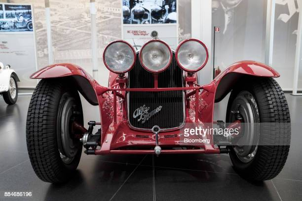 Alfa Romeo Automobiles SpA 8C 2300 vehicle sits on display at the Alfa Romeo Museum in Arese Italy on Saturday Dec 2 2017 Alfa Romeo the Italian...
