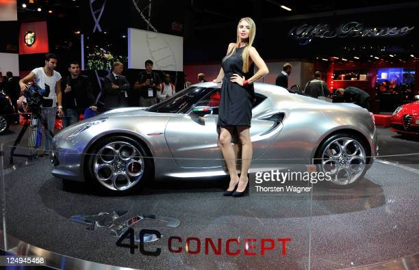 Alfa Romeo concept car C4 is pictured during the press days at the IAA Frankfurt Auto Show on September 14 2011 in Frankfurt am Main Germany The IAA...
