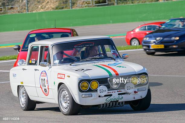 alfa romeo giulia 1600 super - rally car stock photos and pictures