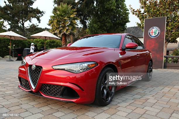Alfa Romeo Giulia at Folktale Winery on August 19 2016 in Carmel California