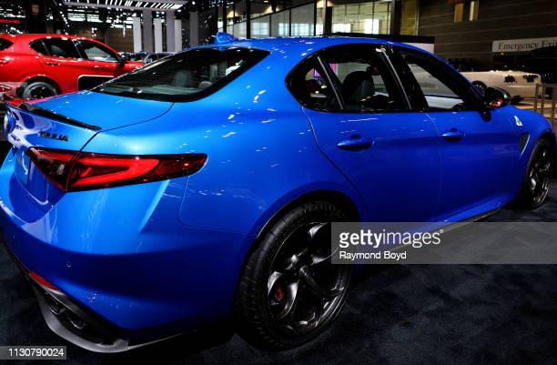 Alfa Romeo Giulia is on display at the 111th Annual Chicago Auto Show at McCormick Place in Chicago, Illinois on February 8, 2019.