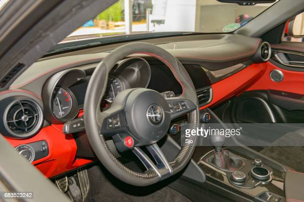 Alfa Romeo Giulia Quadrifoglio QV sports sedan interior