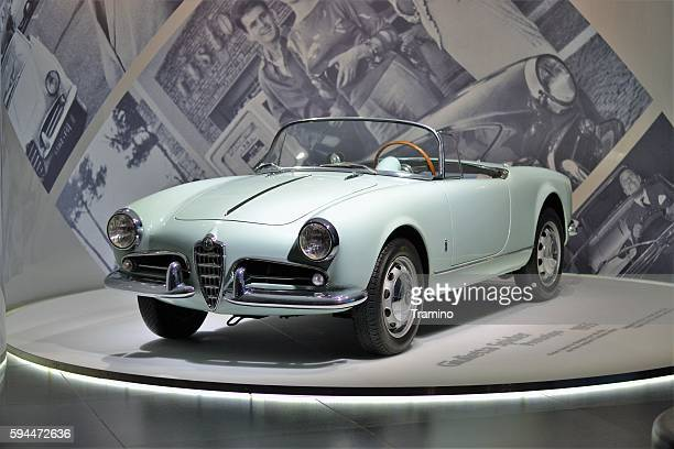 Alfa Romeo Giulietta Spider in the car showroom