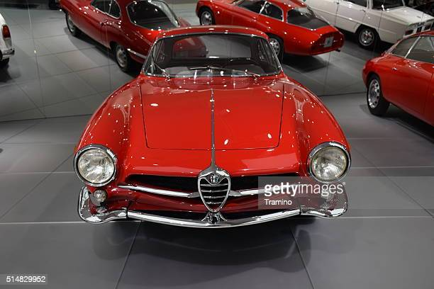 alfa romeo giulietta sprint speciale in the car museum - alfa romeo stock pictures, royalty-free photos & images