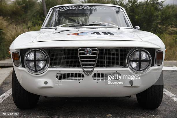 Alfa Romeo GTA stands during the Friends of Steve McQueen Car Show Rally from Malibu to Santa Barbara California US on Saturday May 14 2016 Dozens of...