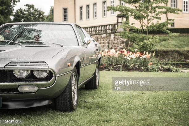 alfa romeo montreal classic italian sports car. - alfa romeo stock pictures, royalty-free photos & images