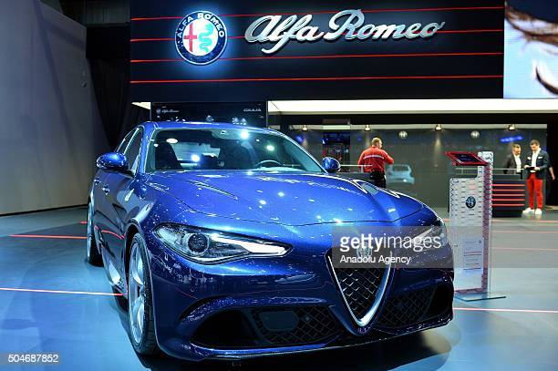 Alfa Romeo on display during the Brussels Auto Show at Expo Center in Brussels Belgium on 12 2016