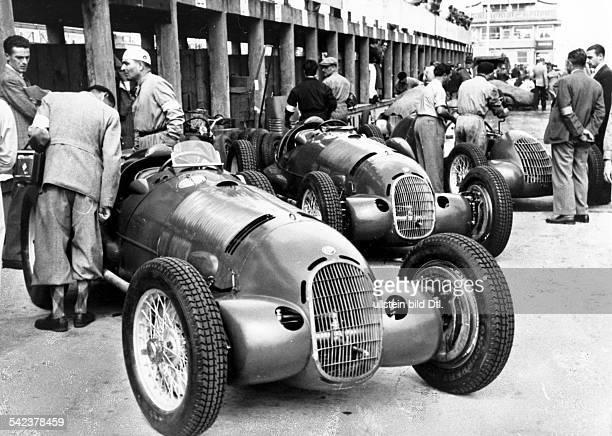 Alfa Romeo racing car before a car race on the AVUS motor racing circuit in Berlin