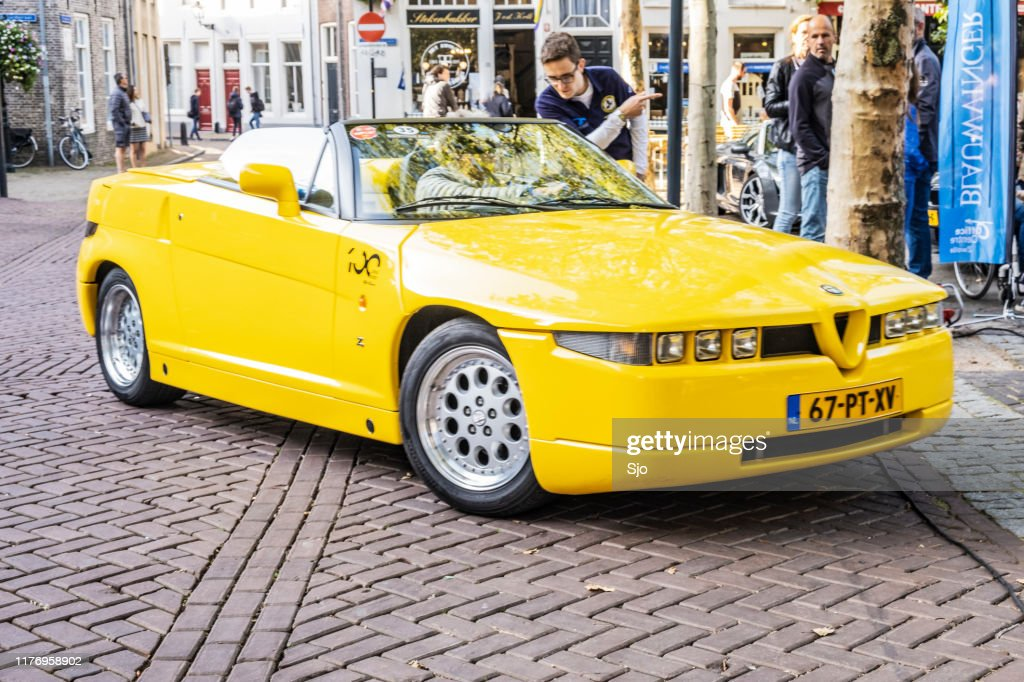 Alfa Romeo RZ Roadster Zagato convertible sports car : Stock Photo