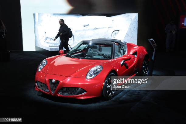 Alfa Romeo shows off their 4C sports car at the Chicago Auto Show on February 06, 2020 in Chicago, Illinois. The show is the largest in the nation.