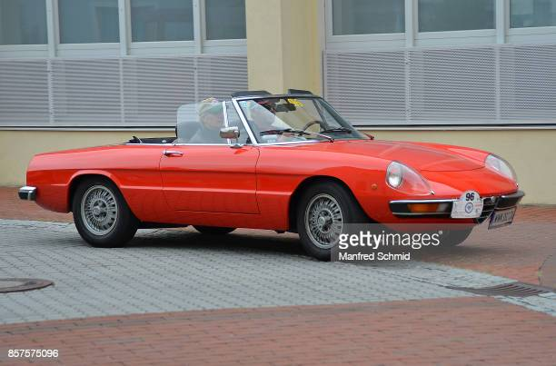 Alfa Romeo Spider in the '6th EbreichsdorfClassic' oldtimer rally at Markt Piesting on September 2 2017 in Markt Piesting Austria
