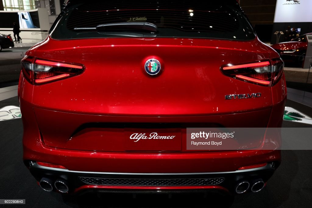 Alfa Romeo Stelvio is on display at the 110th Annual Chicago Auto Show at McCormick Place in Chicago, Illinois on February 9, 2018.