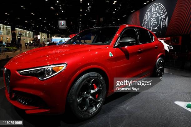 Alfa Romeo Stelvio is on display at the 111th Annual Chicago Auto Show at McCormick Place in Chicago, Illinois on February 8, 2019.