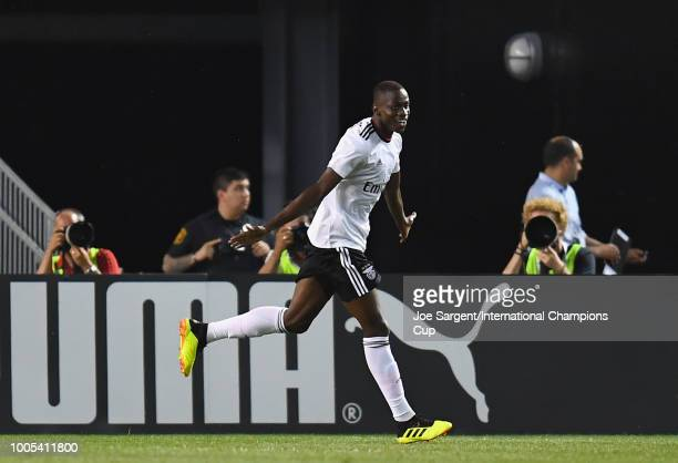 Alfa Semedo of Benfica celebrates his tying goal against Borussia Dortmund during the second half of the International Champions Cup 2018 match at...