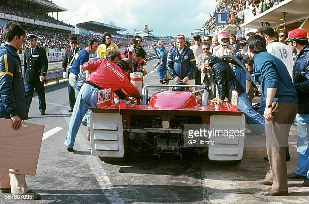 Alfa T33s were built and campaigned by Autodelta SpA a subsidiary of Alfa Romeo Andrea de AdamichNino Vaccarella's Alfa Romeo T33TT3 Autodelta SPA...