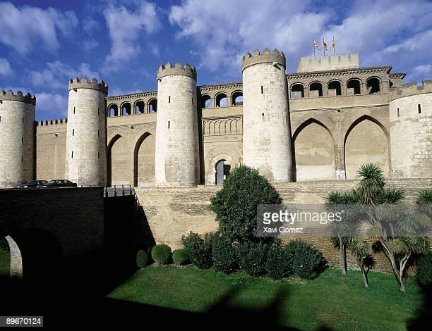 Alfajería Palace, Saragossa (Aragón, Spain) Current seat of the Aragón Government. Spanish Mudéjar Art.