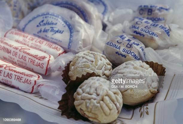 Alfajores de Medina Sidonia traditional sweets produced in Medina Simonia Andalusia Spain