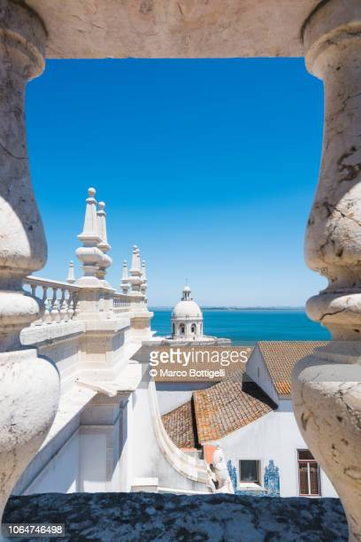alfama district and national pantheon, lisbon, portugal - lisbon stock pictures, royalty-free photos & images