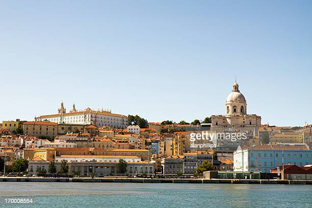 Alfama district of Lisbon as seen from the Tagus River