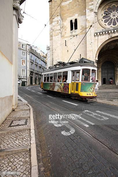 Alfama, Old Town of Lisboa, Public Transport, Rails, Tram