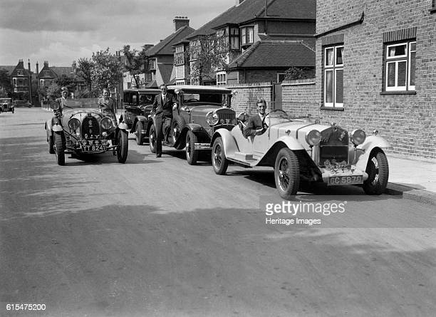 AlfaRomeo Chrysler Coupe and Bugatti Type 43 2262cc Right AlfaRomeo 1930 Vehicle Reg No GC5870 Driver Evans K Centre Chrysler Left Bugatti Type 43...