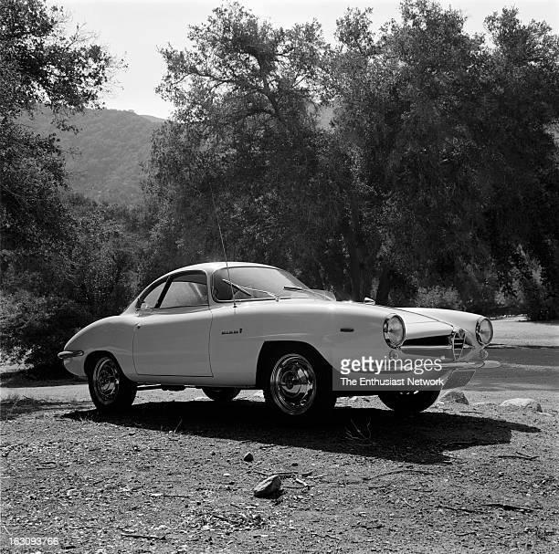 AlfaRomeo Giulia Sprint Speciale Road testing the new 1965 Alfa Giulia SS for Sports Car Graphic magazine With coachwork by Bertone the SS is a 2door...