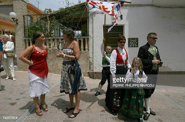 Norwegians take part in their national day celebrations in Alfaz del Pi in the Spanish region of Alicante 17 May 2007 Alfaz del Pi is the only town...